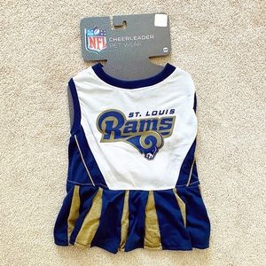 Pet NFL Dog/Cat Cheerleader Outfit - St Louis Rams